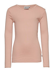 Basic Girl T-Shirt LS - MISTY ROSE