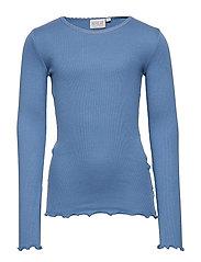 Rib T-Shirt Lace LS - BLUE HORIZON