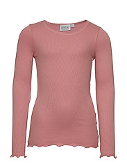 Rib T-Shirt Lace LS - SOFT PEACH ROSE