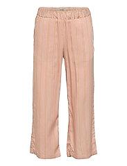 Cropped Trousers Inga - PEACH STRIPE