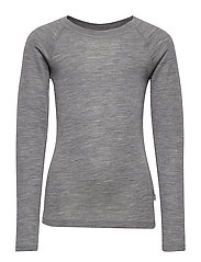 Wool T-Shirt LS - MELANGE GREY