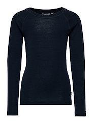 Wool T-Shirt LS - NAVY