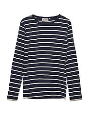 T-Shirt Striped LS - NAVY