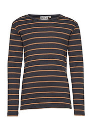 T-Shirt Striped LS - CARAMEL