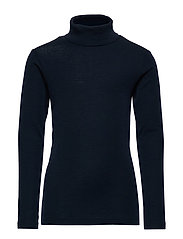 T-Shirt Roll Neck Wool - NAVY