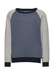 Knit Pullover Flemming - GREYBLUE MELANGE