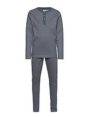 Boy Pajamas Rib LS - DUSTY BLUE