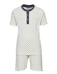 Boy Py Set Short Ss Pyjamas Set Vit WHEAT
