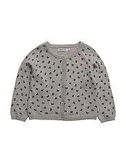 Knit Cardigan Print - MELANGE GREY