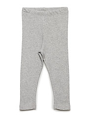 Rib Leggings - MELANGE GREY