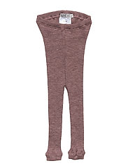 Wool Rib Leggings - PLUM MELANGE