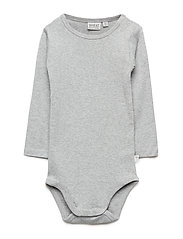 Body Plain LS - MELANGE GREY