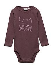 Body Cat LS - SOFT EGGPLANT