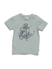 T-Shirt Anchor Octopus SS - LEAD BLUE