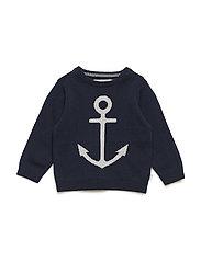 Knit Pullover Anchor - NAVY
