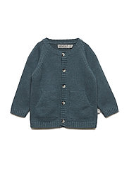 Knit Cardigan Classic - STORMY MELANGE