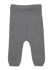 Knit Trousers Liam - DARK MELANGE GREY