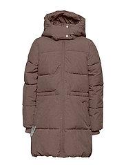 Down Coat Nanny - PLUM MELANGE
