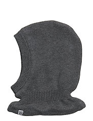 Knitted Balaclava - DARK MELANGE GREY