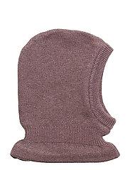 Knitted Balaclava - EGGPLANT MELANGE