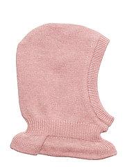 Knitted Balaclava - PINK MELANGE