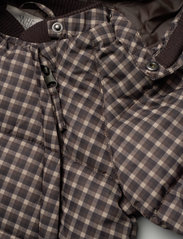 Wheat - Puffer Baby Suit - snowsuit - brown check - 7