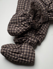 Wheat - Puffer Baby Suit - snowsuit - brown check - 9