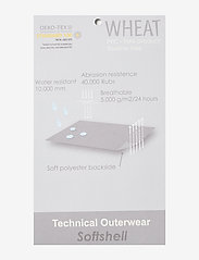 Wheat - Softshell Jacket Eddie - softshell-jakker - blue melange - 3