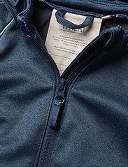 Wheat - Softshell Jacket Eddie - softshell-jakker - blue melange - 4