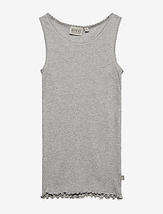 Rib Top - MELANGE GREY