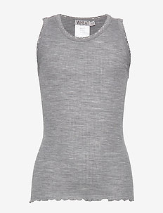Rib Wool Top - MELANGE GREY
