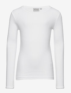 Basic Girl T-Shirt LS - long-sleeved t-shirts - white