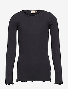 Rib T-Shirt Lace LS - manches longues - midnight blue
