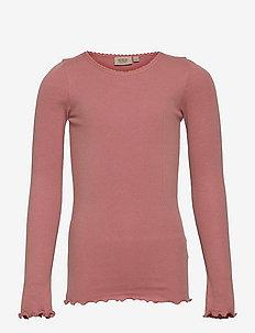 Rib T-Shirt Lace LS - manches longues - rose cheeks