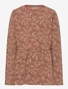 T-shirt Marcia - lange mouwen - rose cheeks flowers