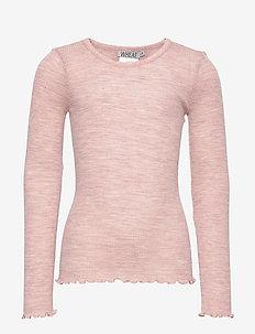 Wool Rib T-Shirt LS - FAWN MELANGE