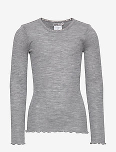 Wool Rib T-Shirt LS - MELANGE GREY