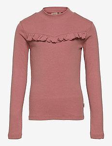 T-Shirt Rib Ruffle - manches longues - rose cheeks