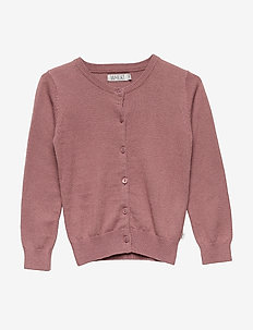 Knit Cardigan Rhinestones - neuletakit - plum