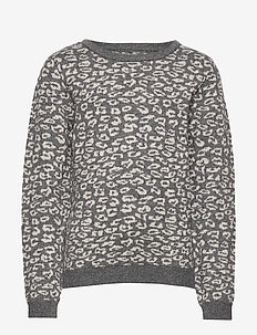 Knit Jumper Mirsa - knitwear - dark melange grey
