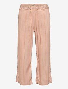 Cropped Trousers Inga - trousers - peach stripe