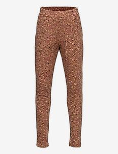 Soft Pants Abbie - trousers - bronze flowers