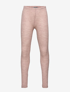 Wool Rib Leggings - leggings - fawn melange