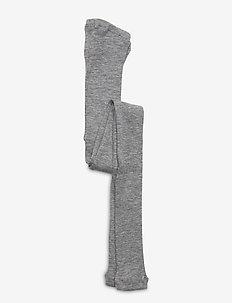 Wool Rib Leggings - strømpebukser - melange grey