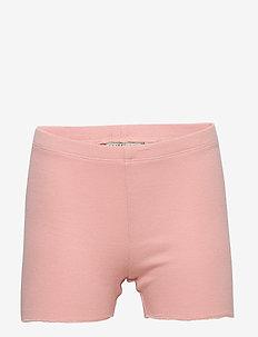 Rib Shorts - ROSE TAN