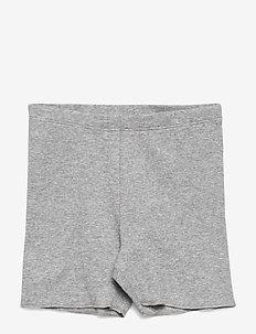 Rib Shorts - MELANGE GREY