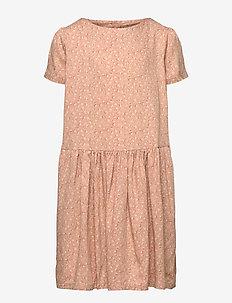 Dress Agnete - kleider - rose flowers