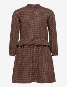 Dress Bitten - kleider - maroon check