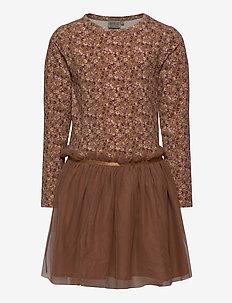Jersey Dress Tulle Mathilde - kjoler - caramel flowers