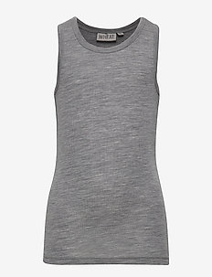 Boys Wool Singlet - sans manches - melange grey